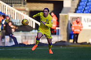 AFC Wimbledon defender Barry Fuller (2) sprints forward with the ball during the EFL Sky Bet League 1 match between Peterborough United and AFC Wimbledon at London Road, Peterborough, England on 24 February 2018. Picture by Dennis Goodwin.