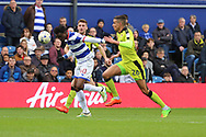 Queens Park Rangers forward Idrissa Sylla (40) heading the ball during the EFL Sky Bet Championship match between Queens Park Rangers and Rotherham United at the Loftus Road Stadium, London, England on 18 March 2017. Photo by Matthew Redman.
