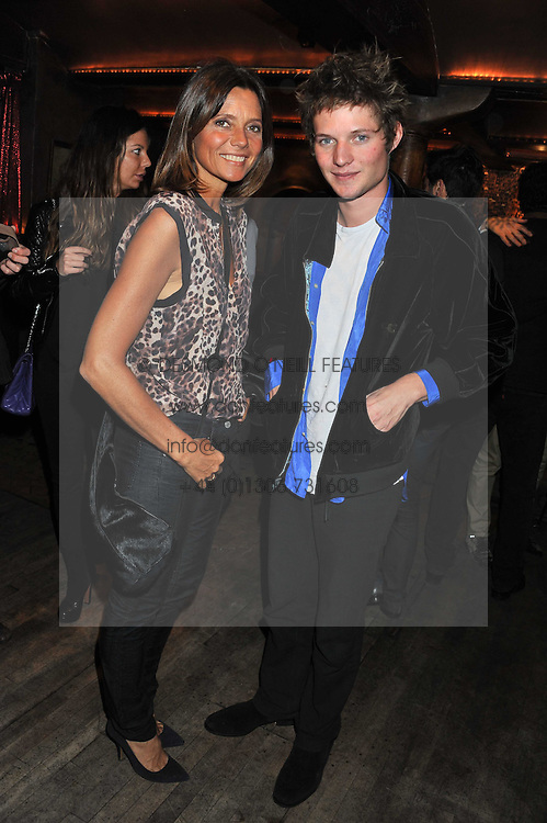 COUNTESS DEBONAIRE VON BISMARCK and her son COUNT NIKOLAI VON BISMARCK at a party to celebrate the opening of the Muzungu Sisters Pop Up Store at Momo - an ethically sourced fashion brand  held at Momo, 25 Heddon Street, London on 27th October 2011.