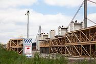construction site of the new river Rhine bridge of the Autobahn A1 between Cologne and Leverkusen, surveillance camera, Cologne, Germany.<br /> <br /> Baustelle der neuen Rheinbruecke der Autobahn A1 zwischen Koeln und Leverkusen, Ueberwachungskamera, Koeln, Deutschland.