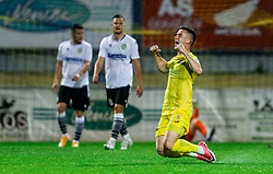 Arnel Jakupovic of Domzale celebrates after scoring first goal during football match between NK Domzale and NK Koper in 34th Round of Prva liga Telekom Slovenije 2020/21, on May 16, 2021 in Sports park Domzale, Domzale, Slovenia. Photo by Vid Ponikvar / Sportida