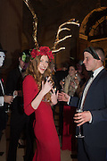 BLANCHE HOWARD; BERTIE COLLINS, Ball at to celebrateBlanche Howard's 21st and  George Howard's 30th  birthday. Dress code: Black Tie with a touch of Surrealism. Castle Howard. Yorkshire. 14 November 2015
