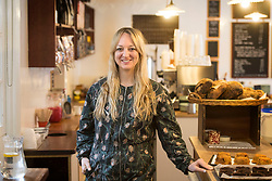 Claire Ptak, owner of Violet Bakery in Hackney, east London, who has been chosen to make the cake for the wedding in May of Prince Harry and Meghan Markle.