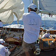 """Sincerity at the Antigua Classic Yacht Regatta.<br /> <br /> Back in the 60s, classic yachts, which were gathered in English Harbour Antigua, had begun chartering and the captains and crews challenged each other to a race down to Guadeloupe and back to celebrate the end of the charter season. From this informal race, Antigua Race Week was formalised in 1967, and in those days all of the yachts were classics. As the years grew on, the classic yachts were slowly outnumbered but the faster sleeker modern racing yachts and 24 years later the Classic Class had diminished to a few boats and was abandoned in 1987. However this same year seven classic yachts turned out and were placed in Cruising Class 3 with the bare boats. The class was so unmatched that it was downright dangerous, so Captain Uli Pruesse hosted a meeting onboard Aschanti of Saba with several classic skippers and in 1988 the Antigua Classic Yacht Regatta was born, with seven boats.<br /> <br /> In 1991, Elizabeth Meyer brought her newly refitted Endeavour and Baron Edmond Rothschild brought his 6-meter Spirit of St Kitts and """"CSR"""" became the first Sponsor and inaugurated the Concours d'Elégance. In 1996 we created the """"Spirit of Tradition Class"""", which has now been accepted all over the world, which gives the """"new"""" classics, built along the lines of the old, a chance to sail alongside their sister ships. In 1999 we celebrated the first race between the J class yachts in 60 years. Mount Gay Rum has sponsored the Regatta for many years, and we have recently added Officine Panerai as our first ever Platinum Sponsor.<br /> <br /> The Antigua Classic Yacht Regatta has maintained a steady growth, hosting between 50 and 60 yachts every year and enjoys a wonderful variety of competitors, including traditional craft from the islands, classic ketches, sloops, schooners and yawls making the bulk of the fleet, together with the stunningly beautiful Spirit of Tradition yachts, J Class yachts and Tall Ships."""