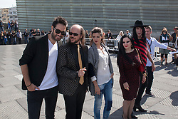 25.09.2015, Madrid, San Sebastian, ESP, San Sebastian International Film Festival, im Bild Dani Matinez, Clara Lago, Mario Vaquerizo, Alaska and Santiago Segura pose during `Hotel Transilvania´ film presentation // at 63rd Donostia Zinemaldia, San Sebastian International Film Festival in Madrid in San Sebastian, Spain on 2015/09/25. EXPA Pictures © 2015, PhotoCredit: EXPA/ Alterphotos/ Victor Blanco<br /> <br /> *****ATTENTION - OUT of ESP, SUI*****