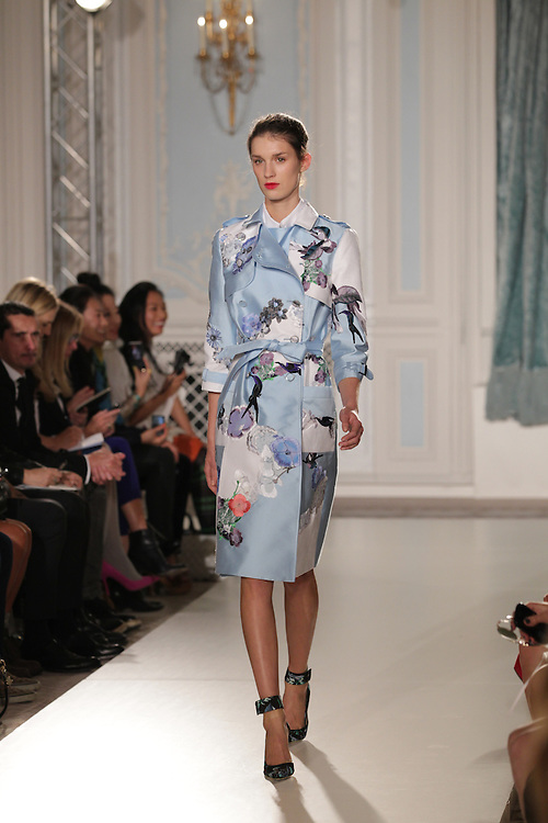 Models walk the runway for the SS 2012 Erdem fashion show held at the Savoy in London.