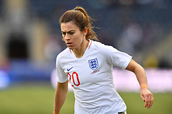 February 27, 2019 - Chester, PA, U.S. - CHESTER, PA - FEBRUARY 27: England Forward Karen Carney (20) looks on in the first half during the She Believes Cup game between Brazil and England on February 27, 2019 at Talen Energy Stadium in Chester, PA. (Photo by Kyle Ross/Icon Sportswire) (Credit Image: © Kyle Ross/Icon SMI via ZUMA Press)