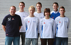 Group photo of members of Slovenian National Cycling team at press conference before World Championship 2008 in Varese (ITA), on September 19, 2008, in Ljubljana, Slovenia. (Photo by: Vid Ponikvar / Sportal Images)./ Sportida)