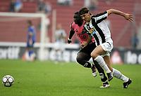 Udine, 03/10/2004<br /> <br /> Quinta giornata del Campionato di calcio Serie A<br /> <br /> Incontro Udinese-Juventus 0-1<br /> <br /> Zlatan Ibrahimovic Juventus (R) and Muntari Sulley Udinese<br /> <br /> <br /> <br /> <br /> <br /> Foto Graffiti
