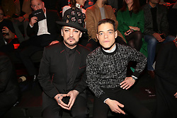 Boy George and Rami Malek attending the Dior Men Menswear Fall/Winter 2017-2018 show as part of Paris fashion week in Paris, France on January 21, 2017. Photo by Jerome Domine/ABACAPRESS.COM  | 579112_057 Paris