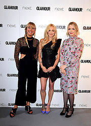 Sara Cox (left), Fearne Cotton (centre) and Lauren Laverne (right) in the press room at the Glamour Women of the Year Awards 2017, Berkeley Square Gardens, London.