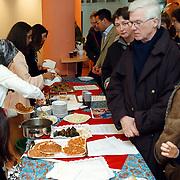 Multiculturele dag in het gemeentehuis huizen, verschillende soorten voedsel