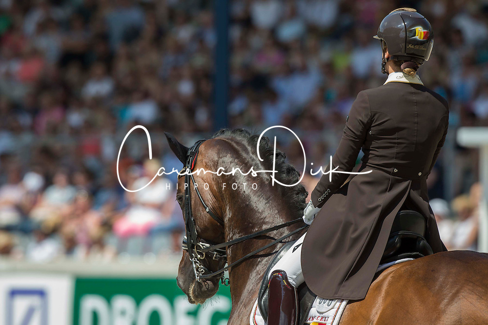De Deken Julie (BEL) - Lucky Dance<br /> Preis der Familie Tesch <br /> Lambertz Nations Cup<br /> Weltfest des Pferdesports CHIO Aachen 2014<br /> © Hippo Foto - Dirk Caremans