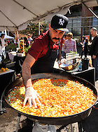 SLUG: Paella challenge-Photo request 56626-March 11, 2012-San Antonio, Texas--- Chef Ty-Lor Boring who appeared on Top Chef Texas prepares his Paella during the Corona Paella Challenge at the Pearl Brewery Sunday.