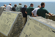 Rangers escort local MP round new National Nature Reserve. Durlston Country Park & Nature Reserve, Swanage, Dorset, UK.