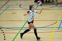Rianne Vos of Apollo 8 in action during the first league match between Laudame Financials VCN vs. Apollo 8 on February 06, 2021 in Capelle aan de IJssel.
