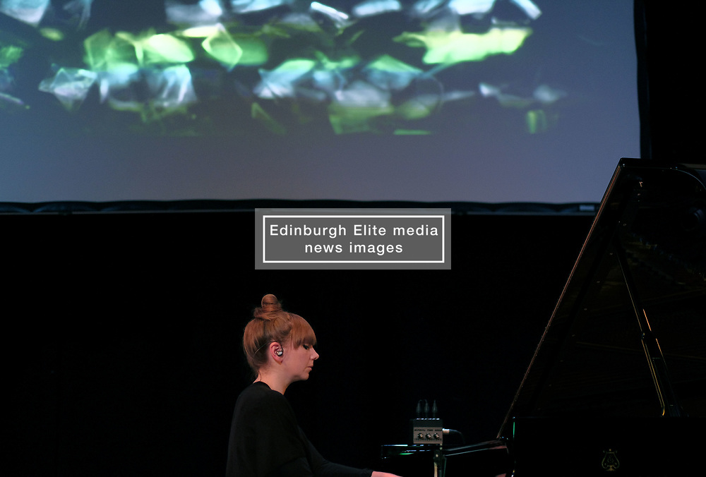 Poppy Ackroyd Performance, Friday 11th May 2018<br /> <br /> Poppy Ackroyd is a performer and composer from London, currently based in Brighton. Classically trained on violin and piano from an early age, she studied piano and composition at Edinburgh University before completing a masters degree in Piano Performance. <br /> <br /> In 2017 she signed to Bjork's label One Little Indian.<br /> <br /> The support act was Maria Rossi from Glasgow performing under the alias Cucina Povera.<br /> <br /> Pictured: Poppy Ackroyd<br /> <br /> (c) Alex Todd | Edinburgh Elite media