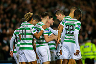 Ryan Christie (#17) of Celtic celebrates Celtic's first goal (1-0) with Celtic team mates during the Betfred Cup Final between Celtic and Aberdeen at Celtic Park, Glasgow, Scotland on 2 December 2018.