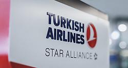 THEMENBILD - Turkish Airlines Star Alliance Logo auf einem Schild am Flughafen, aufgenommen am 15. August 2018 in Graz, Oesterreich // Turkish Airlines Star Alliance logo on a sign, Airport Graz, Austria on 2018/08/15. EXPA Pictures © 2018, PhotoCredit: EXPA/ JFK