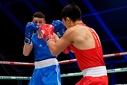 17-11-2019 NED: World Port Boxing Netherlands - Kazakhstan, Rotterdam<br /> 3rd World Port Boxing in Excelsior Stadion Rotterdam / Sammy Wagensveld (NED) in action against Talgat Shaiken (KAZ), 69 kg class