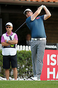 February 16th 2017, Lake Karrinyup Country Club, Perth, Western Australia, Australia; ISPS Handa World Super 6 Perth Golf Tournament Day 1; Ryan Evans (ENG) tees off from the 1st on day one of the ISPS Handa World Super 6 tournament;