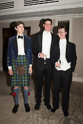 ZAIN MAHMOOD, GUY HOWLAND-JACKSON, CARY GODSAL, The 171 st Royal Caledonian Ball 2019, Grovenor House, Park Lane, London. 3 May 2019