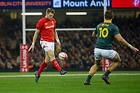 Rugby Union - 2017 Under Armour Series (Autumn Internationals) - Wales vs. South Africa<br /> <br /> Dan Biggar of Wales chips through to set up Wales' 2nd try , at The Principality Stadium (Millennium Stadium), Cardiff.<br /> <br /> COLORSPORT/WINSTON BYNORTH