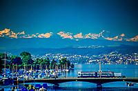 Limmat River and Lake Zurich, Zurich, Switzerland
