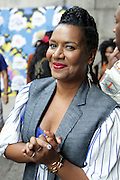 13 September-Brooklyn, New York: Joiee Thorpe, Essence Fashion Editor attends the Essence Street Style Block Party held at The Dumbo Archway Under the Manhattan Bridge on September 13, 2015 in the DUMBO section of Brooklyn, New York.   (Photo by Terrence Jennings/terrencejennings.com)