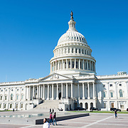East facade of the Capitol Building in Washington DC