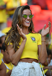 Supermodel Izabel Goulart, girlfriend of Germany's goalkeeper Kevin Trapp at FIFA World Cup Brazil v Serbia match at Spartak Stadium, Moscow, Russia on June 27, 2018. Photo by Christian Liewig/ABACAPRESS.COM