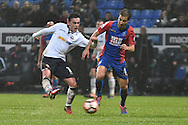 Bolton Wanderers Forward, Zach Clough (10) shoots during the The FA Cup 3rd round match between Bolton Wanderers and Crystal Palace at the Macron Stadium, Bolton, England on 7 January 2017. Photo by Mark Pollitt.