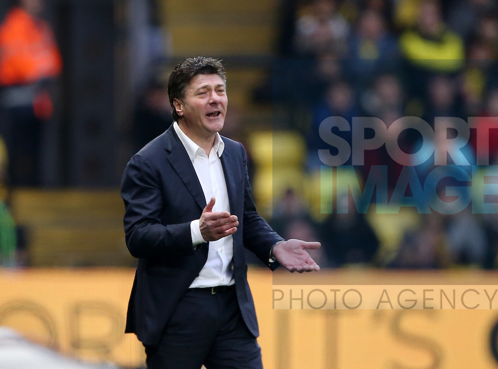 Watford's Walter Mazzarri in action during the Premier League match at Vicarage Road Stadium, London. Picture date December 10th, 2016 Pic David Klein/Sportimage