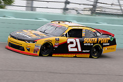 November 16, 2018 - Homestead, FL, U.S. - HOMESTEAD, FL - NOVEMBER 16: Daniel Hemric, driver of the #21 South Point Hotel & Casino Chevy, during practice for the NASCAR Xfinity Series playoff race, the Ford EcoBoost 300 on November, 16, 2018, at Homestead - Miami Speedway in Homestead, FL. (Photo by Malcolm Hope/Icon Sportswire) (Credit Image: © Malcolm Hope/Icon SMI via ZUMA Press)