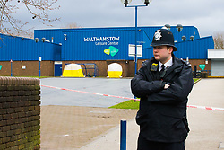 The scene at Walthamstow Leisure Centre on Markhouse Road in North East London where where a sixteen year old boy and a fifteen year-old were shot and stabbed. London, April 03 2018.