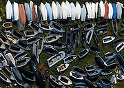 Boats used by would-be immigrants trying to reach European soil from Africa lie in a field at the Safi detention centre outside Valletta March 13, 2009. International aid agency Medecins Sans Frontieres said on Friday it has suspended operations at Malta's migrant detention centres, citing appalling living conditions. European Justice Commissioner Jacques Barrot is expected to visit a detention centre on Saturday.