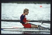 Henley on Thames. United Kingdom. BEL M1X, Wim VAN BELLEGHEM, 1990 Henley Royal Regatta, Henley Reach, River Thames. 06/07.1990<br /> <br /> [Mandatory Credit; Peter SPURRIER/Intersport Images] 1990 Henley Royal Regatta. Henley. UK