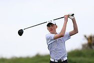 Luke Cunningham (Galway Bay) on the 16th tee during Round 2 of the Connacht U16 Boys Amateur Open Championship at Galway Bay Golf Club, Oranmore, Galway on Wednesday 17th April 2019.<br /> Picture:  Thos Caffrey / www.golffile.ie