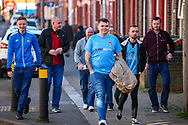 Coventry City fans walk up towards the ground ahead of the EFL Sky Bet League 1 match between Luton Town and Coventry City at Kenilworth Road, Luton, England on 24 February 2019.