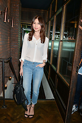 GEMMA CHAN at a party to celebrate the launch of Sackville's Bar & Grill, 8a Sackville Street, London on 15th July 2015.