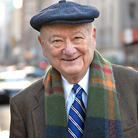 Former New York City mayor Ed Koch photographed at the corner of Madison Avenue and East 83rd Street in New York, New York on Saturday Decmber 29, 2007.<br /> Photo by Shmuel Thaler <br /> shmuel_thaler@yahoo.com www.shmuelthaler.com