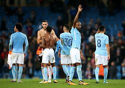 Fernandinho of Manchester City waves to the fans at full time - Mandatory by-line: Matt McNulty/JMP - 26/09/2017 - FOOTBALL - Etihad Stadium - Manchester, England - Manchester City v Shakhtar Donetsk - UEFA Champions League Group stage - Group F