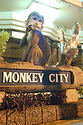 Monkey City, Lopburi, Thailand Lopburi is a city in Thailand, capital of the Lopburi province. The city is located about 150km north-east of Bangkok. Today the city is most famous because of its monkeys. Especially around the Khmer temple Prang Sam Yot hundreds of Crab-Eating Macaques (Macaca fascicularis) live in the middle of the city. Especially during the Monkey festival in November they are fed by the local people, but being used to humans they steal whatever food they can find.