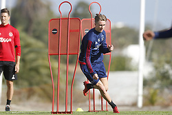 Dennis Johnsen of Ajax during a training session of Ajax Amsterdam at the Cascada Resort on January 10, 2018 in Lagos, Portugal