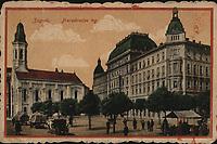 Zagreb : Preradovićev trg. <br /> <br /> ImpresumZagreb : M. J., [1919].<br /> Materijalni opis1 razglednica : tisak ; 9,1 x 13,9 cm.<br /> Vrstavizualna građa • razglednice<br /> ZbirkaZbirka razglednica • Grafička zbirka NSK<br /> ProjektPozdrav iz Zagreba • Pozdrav iz Hrvatske<br /> Formatimage/jpeg<br /> PredmetZagreb –– Trg Petra Preradovića<br /> SignaturaRZG-PRER-5<br /> Obuhvat(vremenski)20. stoljeće<br /> NapomenaRazglednica je putovala 1919. godine. • M. J. Zagreb vjerojatno M. Jaklin, Zagreb.<br /> PravaJavno dobro<br /> Identifikatori000953955<br /> NBN.HRNBN: urn:nbn:hr:238:439073 <br /> <br /> Izvor: Digitalne zbirke Nacionalne i sveučilišne knjižnice u Zagrebu