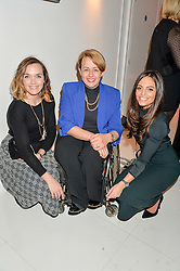 Left to right, VICTORIA PENDLETON, DAME TANNI GREY-THOMPSON and OLIVIA WAYNE at the London premier of Being AP held at Altitude 360, Millbank Tower, 30 Millbank, London on 23rd November 2015.