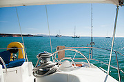 Sailboat, sailing, Isla Espiritu Santos, Baja California Sur, Sea of Cortez, Mexico