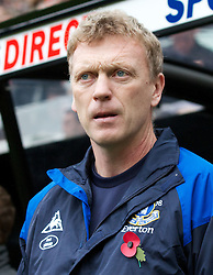 05.11.2011, St. James' Park, Newcastle Upon Tyne, ENG, Premier League, Newcastle United vs FC Everton, im Bild Everton's manager David Moyes // during the premier league match between Newcastle United vs FC Everton at St. James' Park, Newcastle Upon Tyne, EnG on 05/11/2011. EXPA Pictures © 2011, PhotoCredit: EXPA/ Propaganda Photo/ Vegard Grott +++++ ATTENTION - OUT OF ENGLAND/GBR+++++
