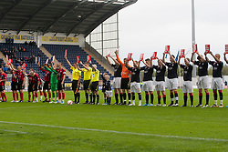 """Teams support """"Show Racism the Red Card""""..Falkirk 1 v 0 Queen of the South, 15/10/2011..Pic © Michael Schofield."""