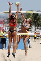 Beachvolleyball, 22. september 2004,  RIO DE JANEIRO<br /> SUSANNE GLESNES, Norge  AGAINST RENATA (BRA)<br /> FOTO LUCIANO PIERANUNZI, DIGITALSPORT